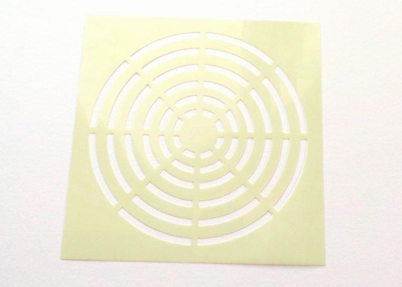 Circles Target Stencil