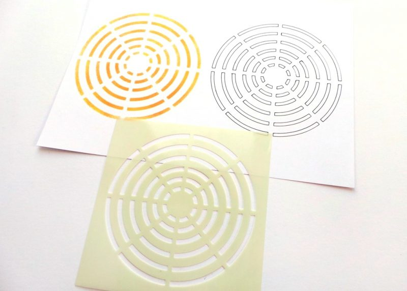 Circles Target Stencil In Use