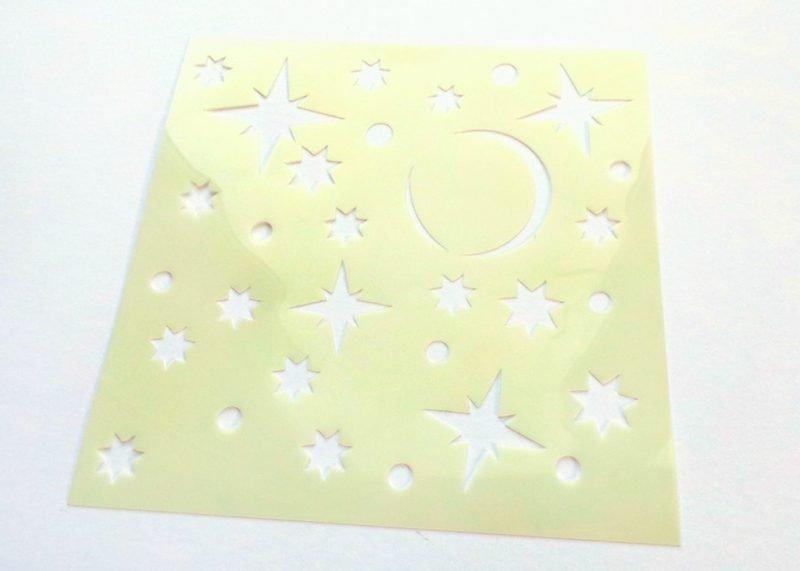 Starry Night Stencil 6x6