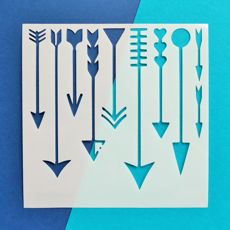 Arrows 6x6 Stencil Happy Scatter
