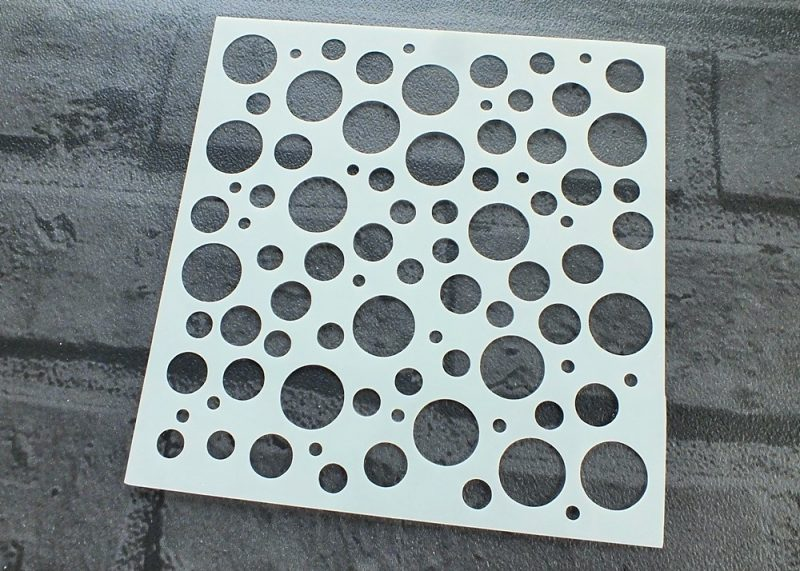 Bubbles Circles Stencil