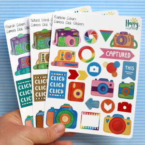 Camera Click Stickers Happy Scatter