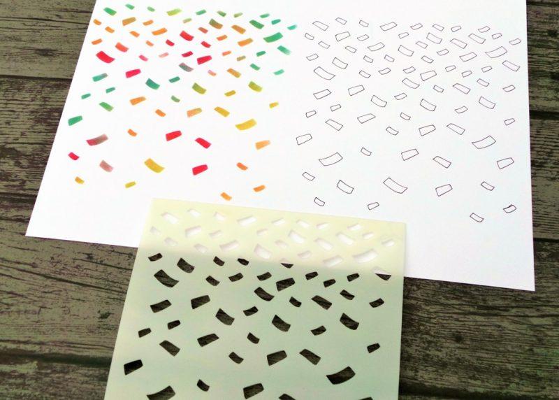 Confetti Stencil With Examples