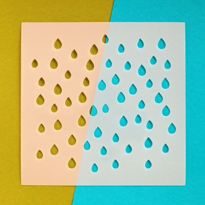 Raindrops 6x6 Stencil Happy Scatter