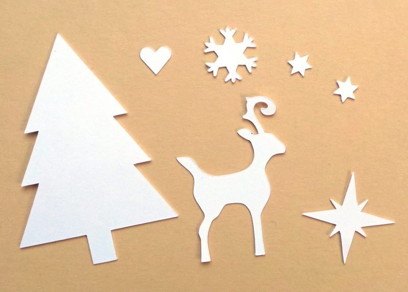 Christmas 3x4 Cards Spare Shapes