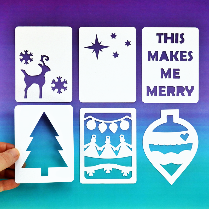 Christmas 3x4 Cards Happy Scatter