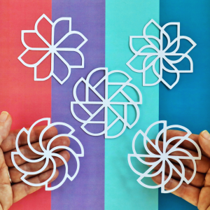 Geometric Petals Cut For You Happy Scatter