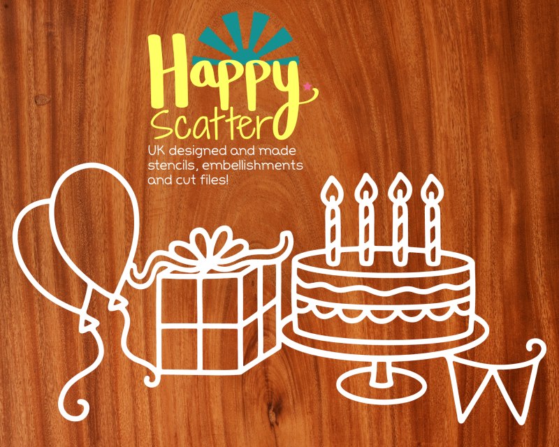 Happy Birthday Cut For You File Happy Scatter without text option