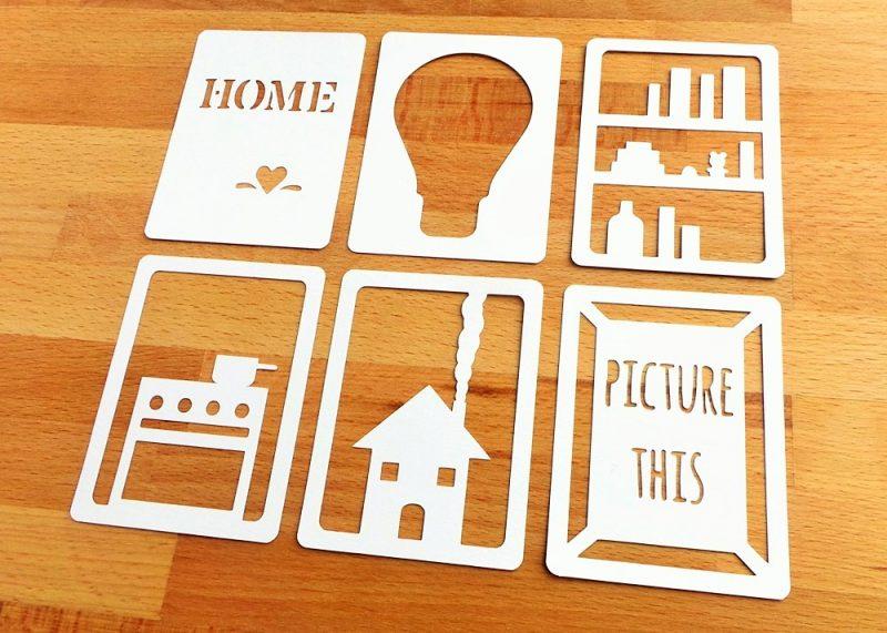 Home 3x4 Die Cut Cards Side View