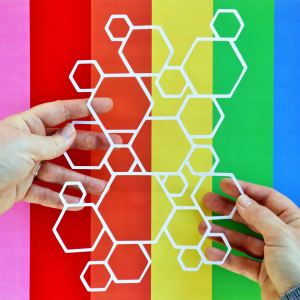 Linked Hexagons Cut For You File Happy Scatter