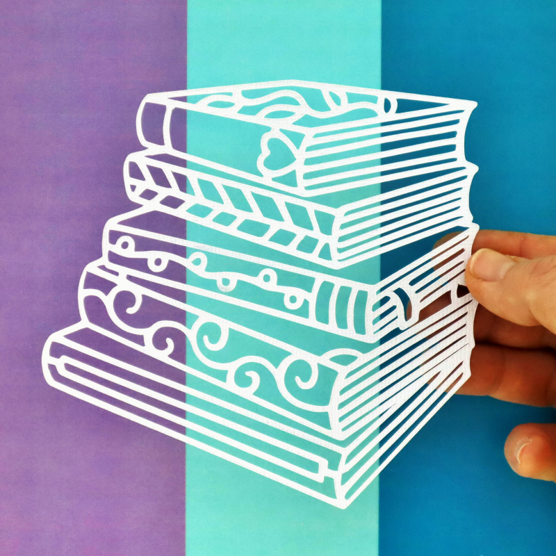 Stack Of Books Cut For You File Happy Scatter