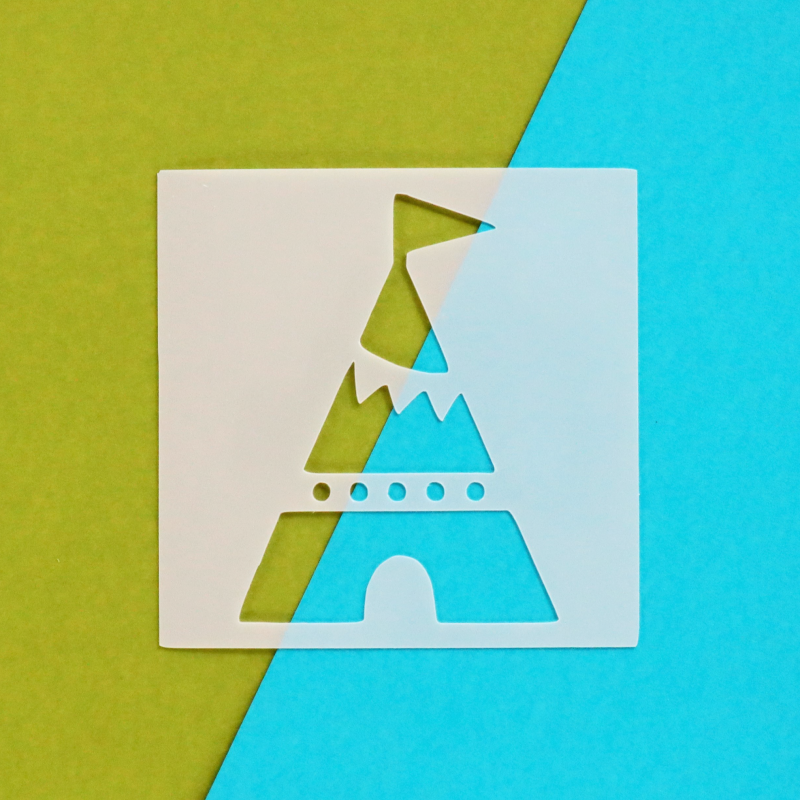 Teepee 3x3 Stencil Happy Scatter