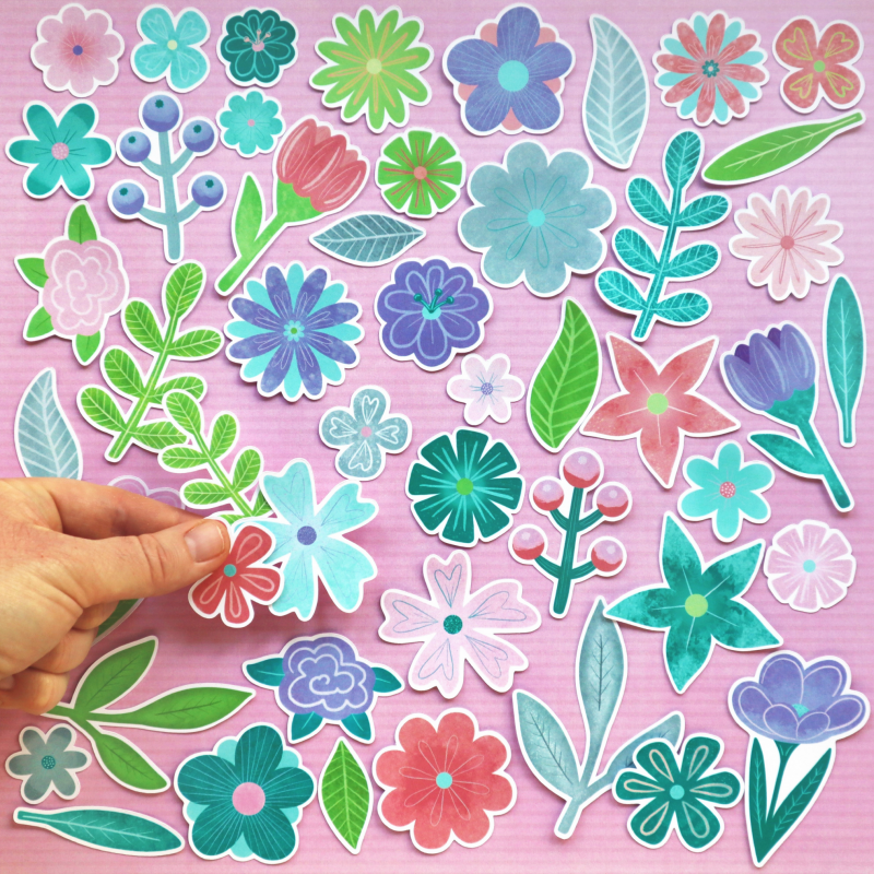 Flourish Flowers And Leaves Die Cuts Size