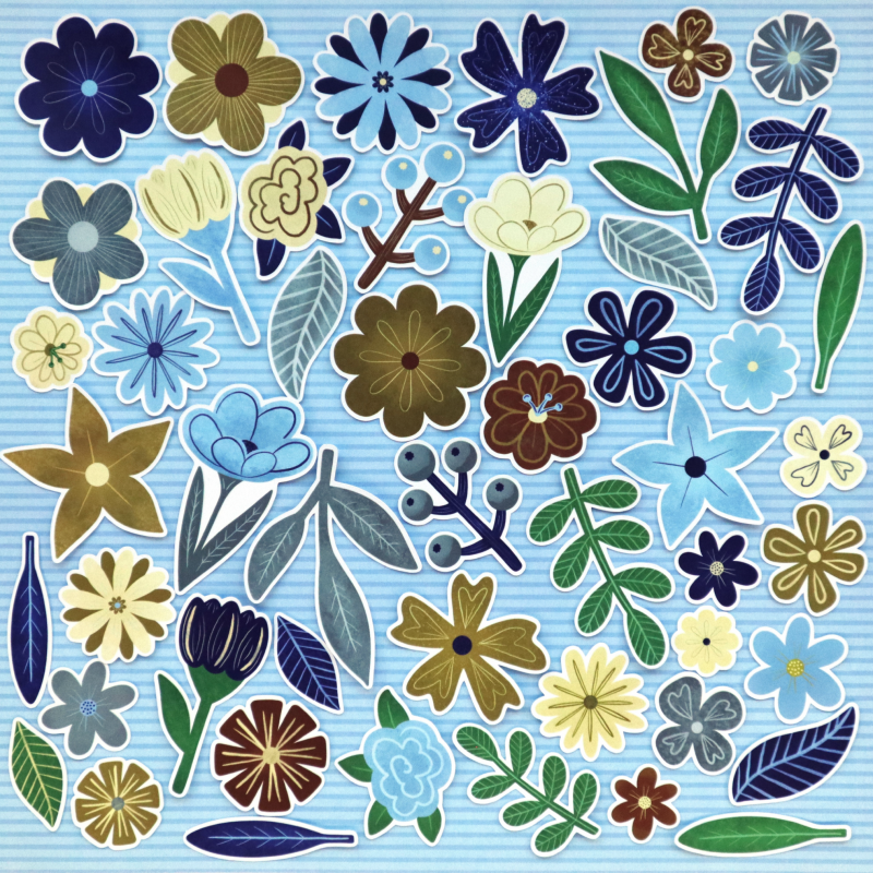 Natural World Flowers And Leaves Die Cuts