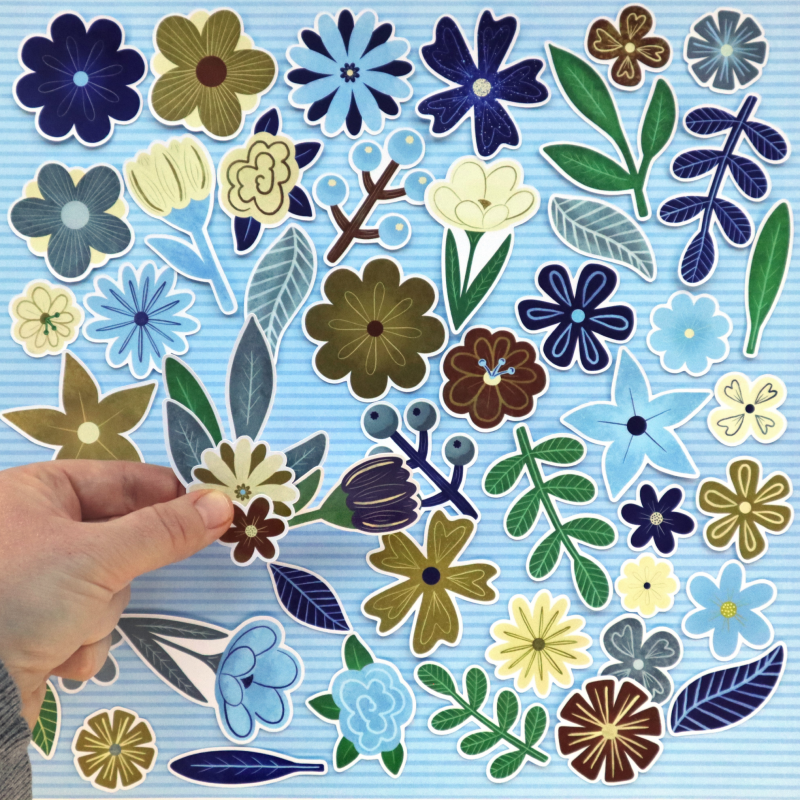 Natural World Flowers And Leaves Die Cuts Size
