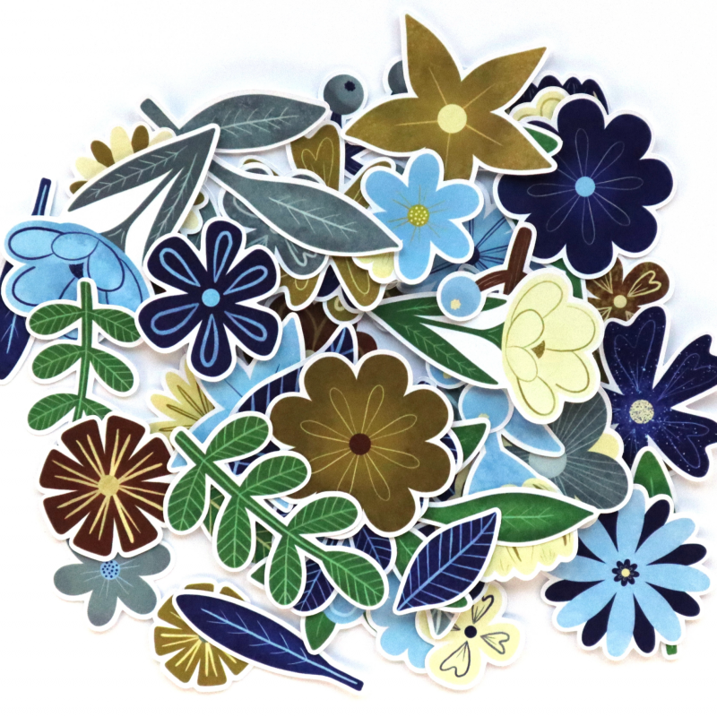 Natural World Flowers And Leaves Die Cuts White Back