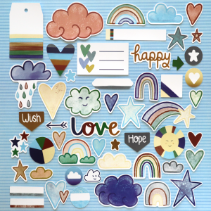 Natural World Rainbow Wishes Die Cuts Happy Scatter